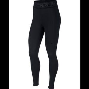 NWT NIKE pro deluxe dri-fit leggings in black.